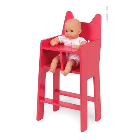 chaise haute pour poupée chaise haute pour poupée babycat janod jeux