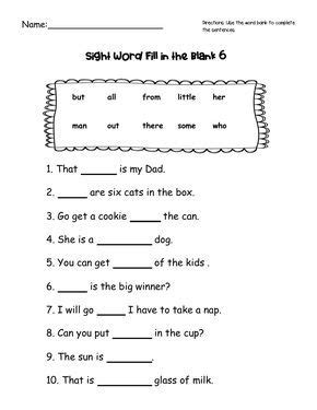 sight word practice  images sight words word