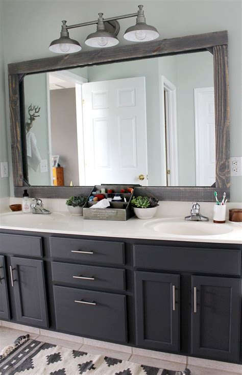 Bathroom Mirror Frame Ideas by Diy Rustic Wood Mirror Frame Bathroom Bathroom Mirror