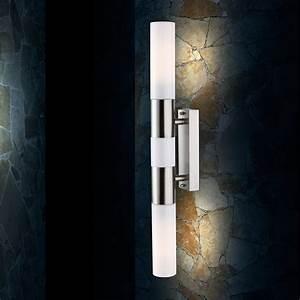 Led Leuchte Flur : led edelstahl bad wand leuchte flur lampe opal badezimmer spiegel licht ip44 ebay ~ Sanjose-hotels-ca.com Haus und Dekorationen