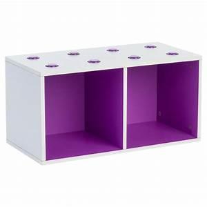 Meuble De Rangement Cube : meuble de rangement empilable 2 cubes abc violet ~ Teatrodelosmanantiales.com Idées de Décoration