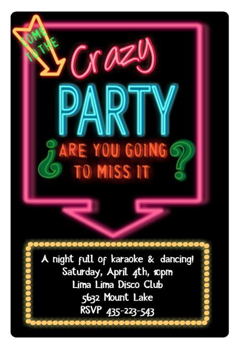 disco party invitation template   island