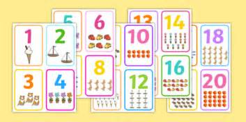 Number Cards, Count, Counting Aid