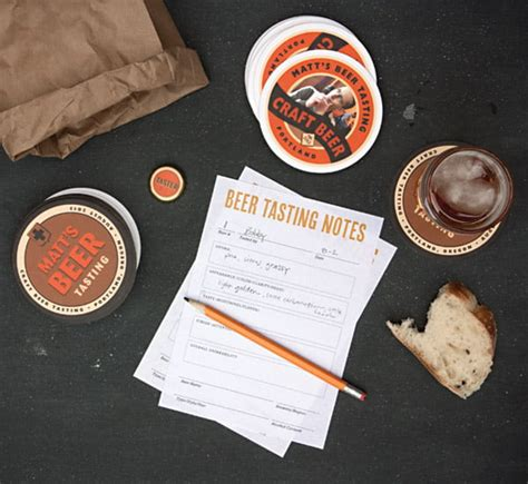 diy beer tasting notes  printable
