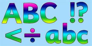 rainbow alphabet display lettering rainbow alaphabet With individual letters for display