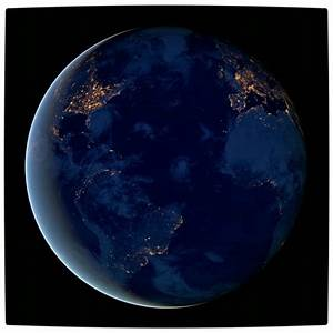 Planet Earth From Space At Night - Pics about space