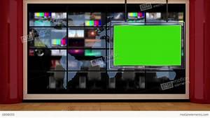 News TV Studio Set 50 Virtual Green Screen Background Loop ...