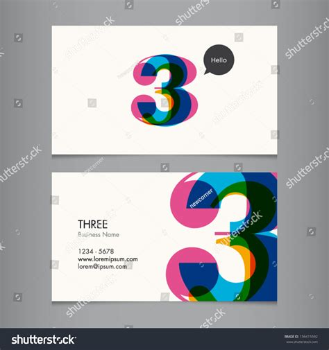business card template number  stock vector