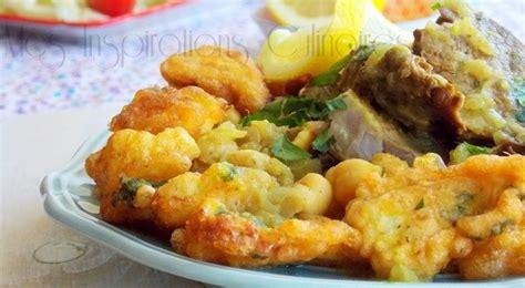 cuisine choux fleur beignets de chou fleur sauce blanche cuisine algéroise