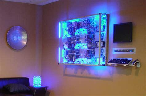 pc case lighting guide wall mounted six pc custom render farm slashgear