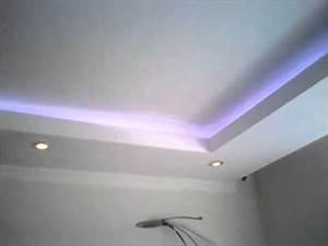 decoration faux plafond avec gorge lumineuse ( led ) + spote alger algerie YouTube