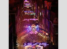 Bohemian Rhapsody switch on lights up Carnaby Street