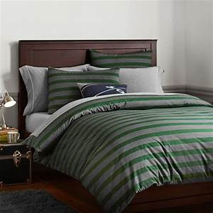 Brooklyn stripe duvet cover sham green pbteen for Brooklyn bedding sale