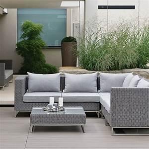 Salon Exterieur En Bois : salon de jardin tress ~ Premium-room.com Idées de Décoration