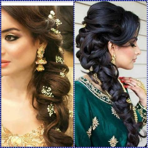 indian wedding hairstyles  mid  long hair