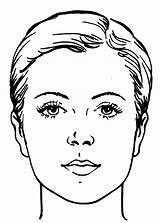 Face Coloring Makeup Woman Blank Faces Printable Sheet Getcoloringpages Boy sketch template