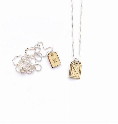 Vuitton Louis Necklace Tag Double Luggage