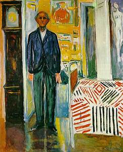 Self-portrait. Between the clock and the bed - Edvard ...