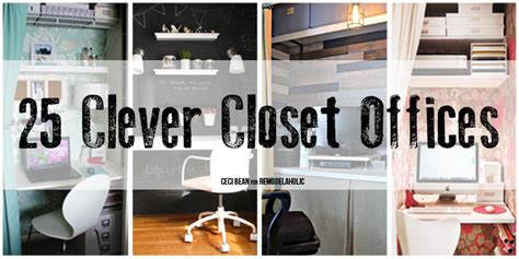 remodelaholic  clever closet offices