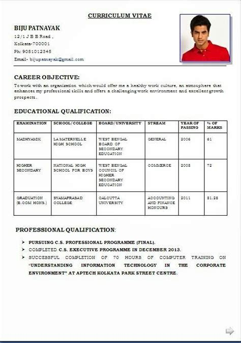 Best Resume Format With Photo by Resume Formats Write The Best Resume