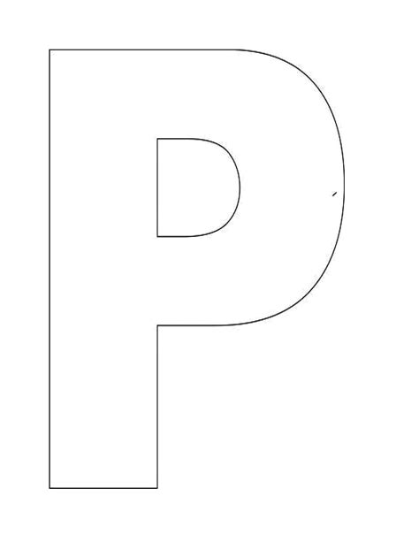 image detail  alphabet letter p templates  perfect