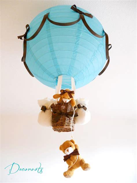 lustre pour chambre bébé le montgolfière enfant bébé création artisanale