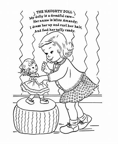 Nursery Coloring Pages Rhymes Rhyme Naughty Adult