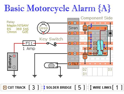 how to build two simple relay based motorcycle alarms circuit diagram