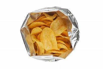 Background Chips Bag Potato Silver Package Chip
