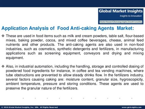 food anti caking agents market