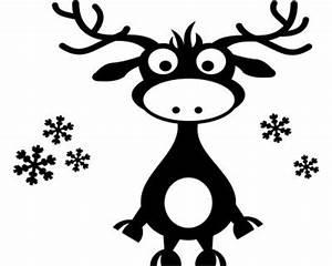 Weihnachtsmotive Schwarz Weiß : wandtattoo rentier wandaufkleber plot4u ~ Buech-reservation.com Haus und Dekorationen