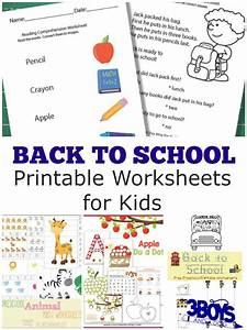 Back to School Worksheets – 3 Boys and a Dog – 3 Boys and ...