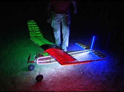Rc Airplane Led Night Flight Aircraft Sunset At Los Banos