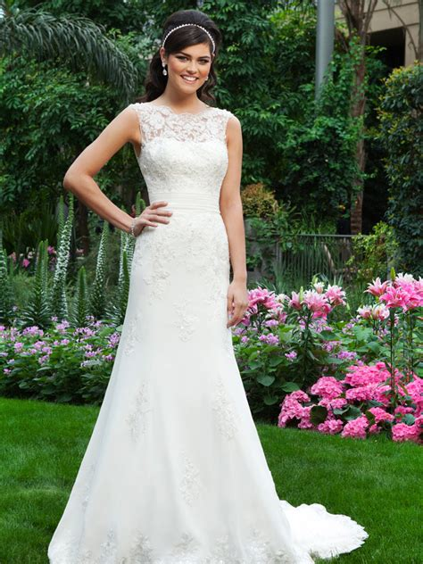 Dress Sabrina Emina Fit Xl sabrina neckline chiffon lace a line sincerity bridal gown