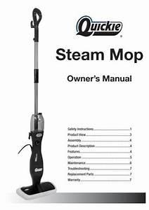 Owner U0026 39 S Manual Steam Mop