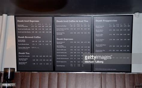 Beverage sizes from starbucks do not use standard names, rather, they are. Atmosphere shot of the dumb menu at the Dumb Starbucks Coffee Shop... News Photo - Getty Images