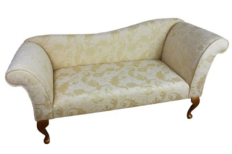 Patterned Loveseat by Designer 2 Seater Sofa Upholstered In A Gold Floral Fabric