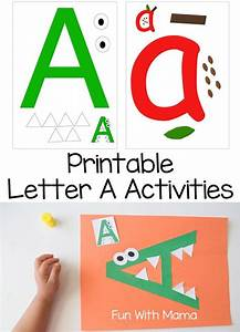 letter a crafts and printable activities letter With preschool letter games