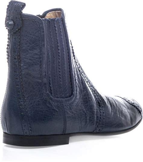 balenciaga chelsea boots  blue lyst