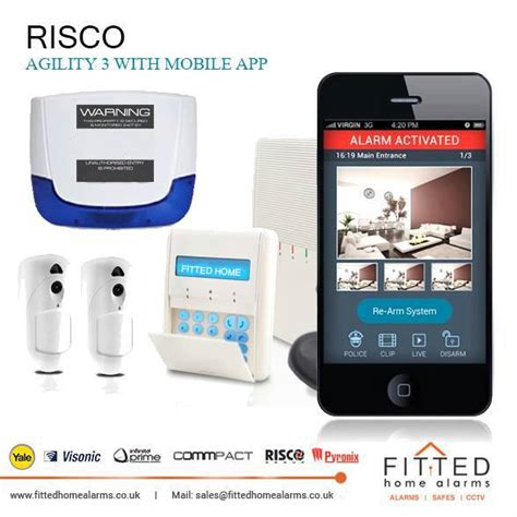 risco agility 3 with mobile app builtin pstn and ip module fitted home alarms