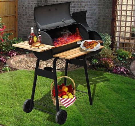 grill barbecue bbq trolley garden smoker heat patio heating charcoal bbqs outsunny december