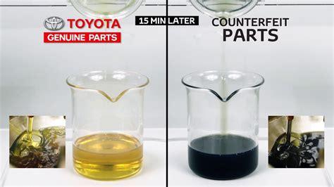 toyota genuine parts oil filter comparison youtube