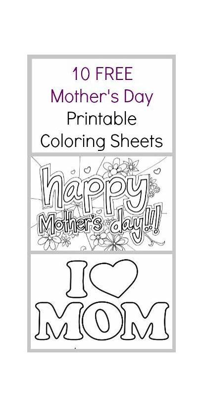 Coloring Sheets Printable Mothers Pages Mother Crafts