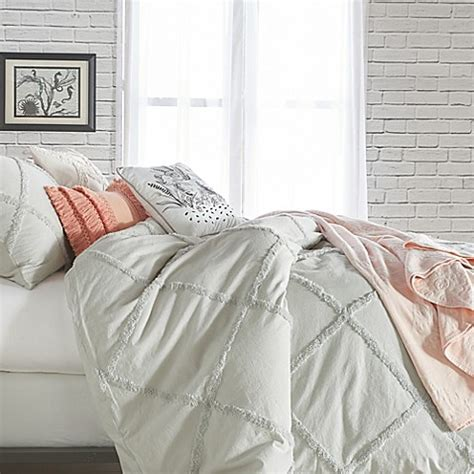 Chenille Duvet Cover by Peri Home Chenille Lattice Duvet Cover Bed Bath Beyond