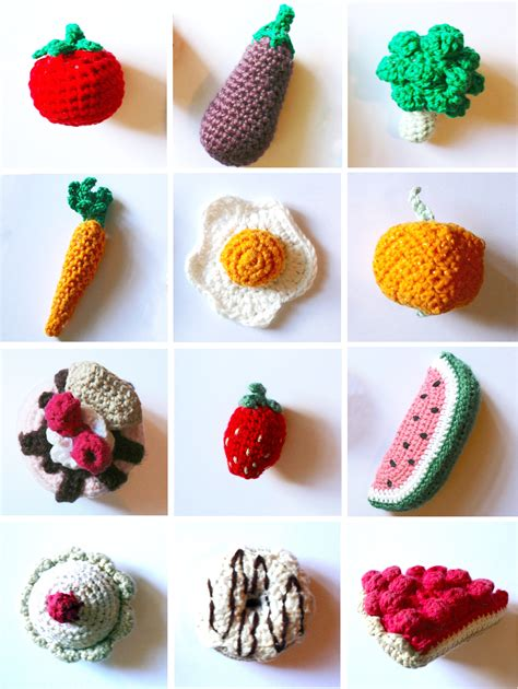 crochet cuisine play food for a play kitchen made by toya