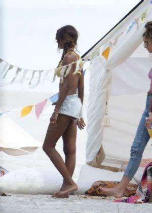 taylor hill  jasmine tookes photoshoot   beach