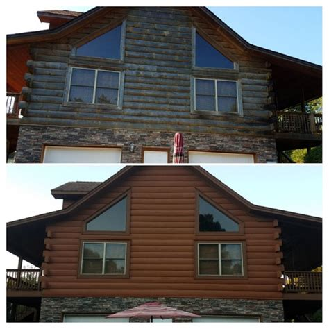 log home solid stain
