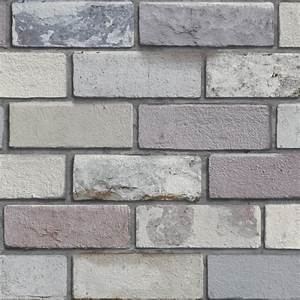 Arthouse Industrial Pastel Grey 3D Effect Brick Wallpaper ...