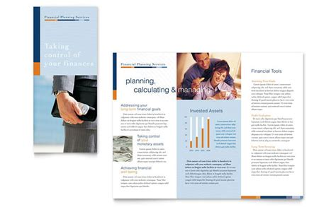 financial planning consulting brochure template design