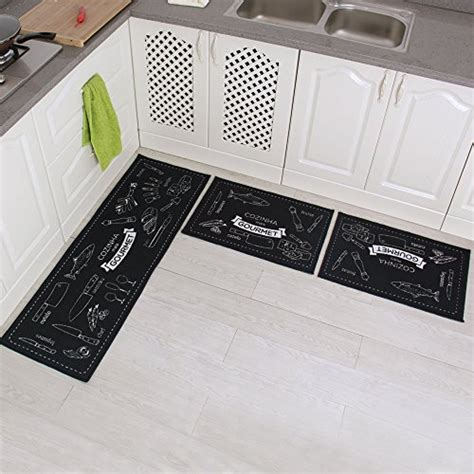 kitchen mat sets set 3 non slip mat rubber backing doormat area